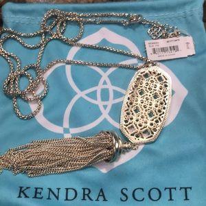 Kendra Scott Benning, gold long pendant necklace